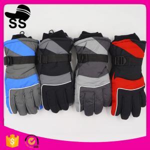 On stock 31*11CM Nylon 133g best price nice design brand name full finger fitness waterproof ski gloves Manufactures