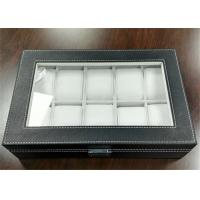 MDF Covered Leather Mens Watch Display Case , Watch Collection Box 10 Slots Manufactures