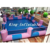 Cheap Custom 0.9mm PVC Pool Type Inflatable Swimming Pool With Blue And Pink , 12x8m for sale