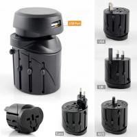 Cheap International Travel AC Power Adapter with USB Port and Fuse Protected for sale