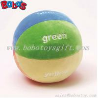 """5.9""""Soft Colorful Plush Baby Ball Toy Baby Educational Rattle Toy Manufactures"""