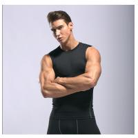 Quality High Elastic Fabric Men's GYM Wear Excercise Cool Dry Trainning Tank Top for sale