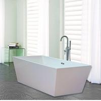 Narrow Edge Portable Acrylic Freestanding Bathtub With End Drain Lightweight