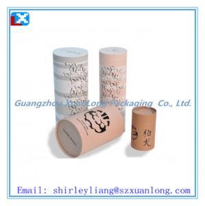 kraft paper tube box for tea
