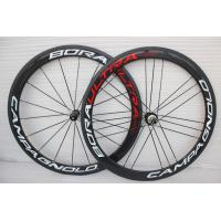 BORA 50mm Racing Bike Carbon Fiber Rims , V - Brake 700c Clincher Carbon Cycling Wheels Manufactures