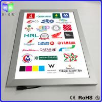 Advertisement LED Poster Frame Light Box Wall Mounted 3D Laser Engraving