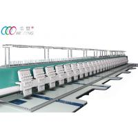 High Speed 28 Heads Computerized Flat Embroidery Machine With All Servo Motor Manufactures