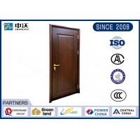 Customized Size 1.5hr Fire Resistant Wooden Doors Sound And Wind Insulation