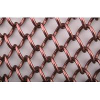 square Copper Chain Link Wire Mesh hot dipped wire netting with 3mm-10mm hole Manufactures