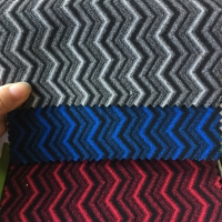 Blue Color 200gsm 130gsm Auto Upholstery Fabric Bus Seat Fabric Manufactures
