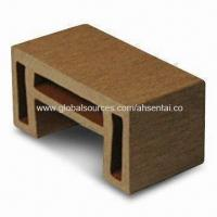 WPC Handrail Bracket, Made of HDPE, Dry Bamboo/Wood Fiber and Chemical Additives Manufactures