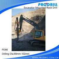 Hydraulic Excavator Mounted Rock Drilling Rig for Borehole Drilling Manufactures