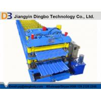 Quality 5.5kw Roof Sheet Tile Roll Forming Machine in Wall / Roof Construction Hydraulic Cutting for sale