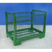 Stackable Steel Collapsible Wire Container Heavy Duty Weatherproof Manufactures