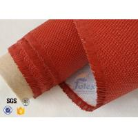 China Electrical Insulation Red Silicone Coated Fiberglass Fabric Cloth 530 gsm on sale