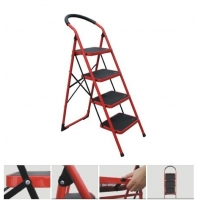 CE Red 130cm 4 Rungs Steel Step Ladder Manufactures