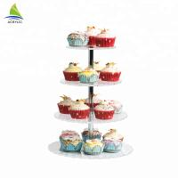 Square Dessert Cupcake Tower Acrylic Cake Stand High hardness and flatness Manufactures