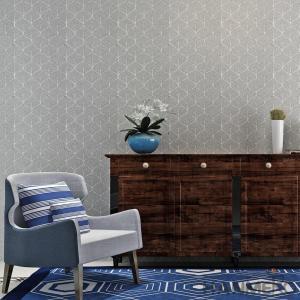 Buy cheap 0.53*10M/Roll Living Room Wallpaper , Modern Embossed Wallpaper from wholesalers