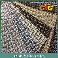 China Anti - Static Luxury Woven Sofa Fabric , Home Textile Products 100% Polyester on sale