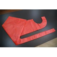 Single Use Red Disposable PE Apron , Polythene Disposable Paint Aprons For Adult Manufactures