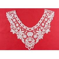 OEM Floral Guipure Lace Collar Applique With Heavy Embroidery By OEKO TEX 100 Manufactures