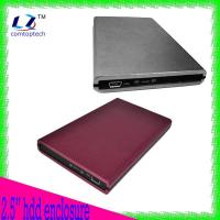 China 2.5 external sata hard drive enclosure aluminum material 480Mbps hdd caddy on sale