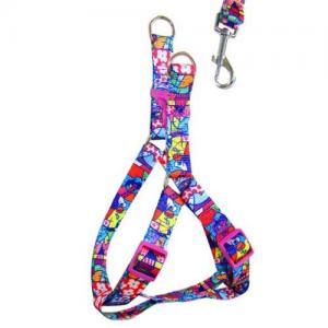 custom print Design Reflective Bungee Hands Free Dog Leash with Waist Belt