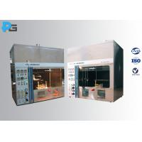 Horizontal / Vertical Flame Electrical Testing Machine 50W 500W IEC60695-11-4 / 3 Manufactures