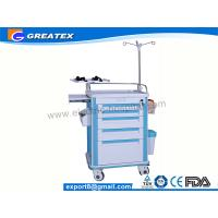 ABS Big Size Emergency Medical Trolleys With Draws / IV Stand (GT-TAQ203) Manufactures