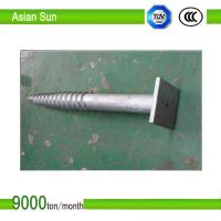 Galvanized Steel Ground Screw for solar mounting system Manufactures