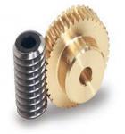 One Thread Steel Screw Shafts Spiral Bevel Gear Brass Worm Gears For Motors Manufactures