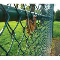40*40MM Dark Green PVC Coated Chain Link Fence for Playground Manufactures