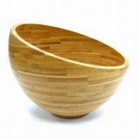 China Serving Salad Bowl, Made of Vertical Grain Bamboo, Measures Ø25 x 20cm on sale