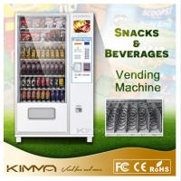 China Advertising Screen Combo Vending Machine For Cold Bottled Canned Drinks Mineral Water Snack Food on sale