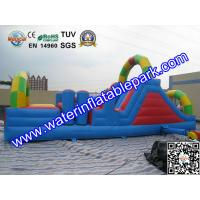 0.55mm PVC Tarpaulin Inflatable Obstacle Course Rental Waterproof And Fireproof Manufactures