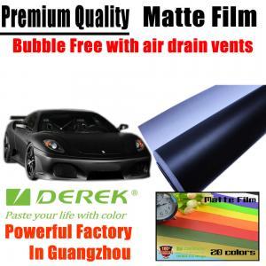 China Matte Car Wraps Vinyl Film - Matte Black Car Wrapping Film on sale