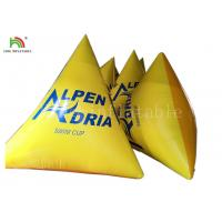 Yellow Color Water Sports Games 2*2*2 M Inflatable Floating Buoy Manufactures