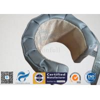 High Temperature Grey Silicone Fiberglass Removable Thermal Insulation Covers , Flange Thermal Covers Manufactures