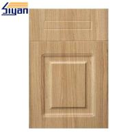 Thermofoil Replacement Pvc Kitchen Cabinet Doors With MDF Fiberboard Manufactures