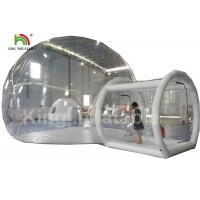 6m Diameter Transparent Inflatable Bubble Tent With Tunnel For Outdoor Camping Rent Manufactures