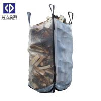 Mesh FIBC Bulk Bags Big Firewood Bag4 Side Seam Loops UV Stabilization Manufactures