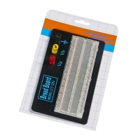 Red / Blue Contacts Transparent Breadboard Black Aluminum Backing Plate Manufactures