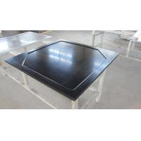 Black  Epoxy Resin Corner Worktop with Glare Surface and Marine Edge Manufactures