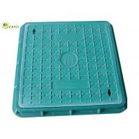 China Green Plumbing Drainage Systems Drain Grating Composite Recessed Manhole Cover on sale