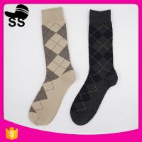 2017  69% Cotton 25 % Polyester 6%Spandex Wholesale Protect Jacquard Absorbent 50g 24.5cm Men Long Winter Knitting Socks Manufactures