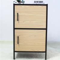 Wooden Doors KD Structure 400mm Steel Bedside Cabinet Manufactures