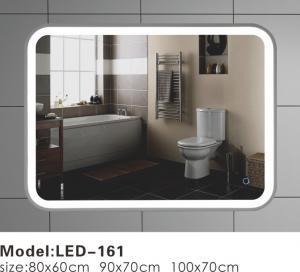 China Luxury Illuminated Wall Mirrors For Bathroom Corner Arc Designed Multi Sizes on sale
