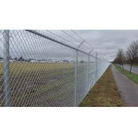 4mm PVC Coated Galvanized Chain Link Fence System Airport Fence 3m High Manufactures