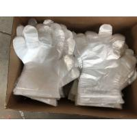 Embossed Disposable Gloves Polyethylene For Medical Checking / Food Handling Manufactures