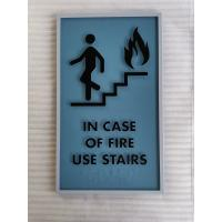 1/4 Inch Acrylic ADA Stair Signs Vandalproof Light Weight Moisture Resistance Manufactures